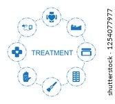 8 treatment icons. trendy... | Shutterstock .eps vector #1254077977