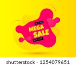 sale banner. bright background. ... | Shutterstock .eps vector #1254079651