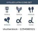 latin icons. trendy 6 latin... | Shutterstock .eps vector #1254080521