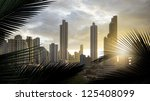panoramic view of the... | Shutterstock . vector #125408099