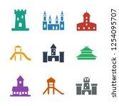 historical icons. trendy 9... | Shutterstock .eps vector #1254095707