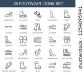 25 footwear icons. trendy... | Shutterstock .eps vector #1254095941