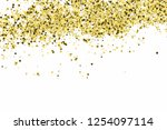 gold glitter texture isolated... | Shutterstock .eps vector #1254097114