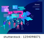 concept landing page template ...   Shutterstock .eps vector #1254098071