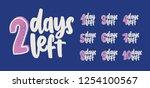 set of 10 handwritten... | Shutterstock .eps vector #1254100567