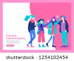 landing page templates. vector... | Shutterstock .eps vector #1254102454