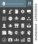 seo glyph icons | Shutterstock .eps vector #1254104221