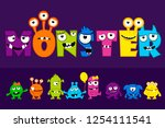 vector collection of cute... | Shutterstock .eps vector #1254111541