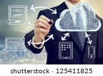 cloud computing  technology... | Shutterstock . vector #125411825