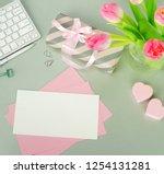 valentine's day background.... | Shutterstock . vector #1254131281