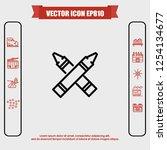highlighter icon vector | Shutterstock .eps vector #1254134677