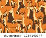 seamless pattern with of... | Shutterstock .eps vector #1254140347
