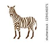 stylized illustration of zebra. ... | Shutterstock .eps vector #1254140371