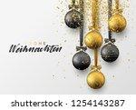 german frohe weihnachten.... | Shutterstock .eps vector #1254143287