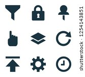 user icons set with setting ...   Shutterstock .eps vector #1254143851