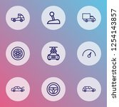 auto icons line style set with...   Shutterstock .eps vector #1254143857