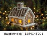 beautiful handmade gingerbread... | Shutterstock . vector #1254145201