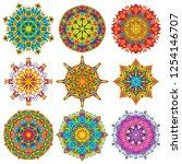 colorful mandala ornament...   Shutterstock .eps vector #1254146707