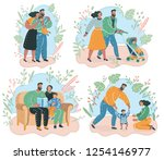 vector cartoon illustration of... | Shutterstock .eps vector #1254146977