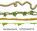 twisted wild lianas branches... | Shutterstock .eps vector #1254164374