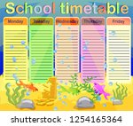 school timetable with marine... | Shutterstock .eps vector #1254165364
