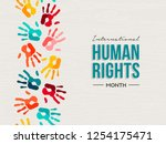 international human rights day... | Shutterstock .eps vector #1254175471