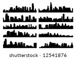 city skyline | Shutterstock .eps vector #12541876