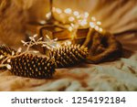 christmas and new year's winter ... | Shutterstock . vector #1254192184