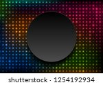 neon led lights abstract... | Shutterstock .eps vector #1254192934