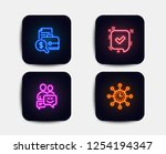 neon glow lights. set of... | Shutterstock .eps vector #1254194347