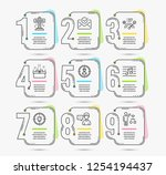 infographic template with... | Shutterstock .eps vector #1254194437