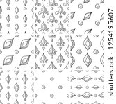 a set of abstract patterns.hand ... | Shutterstock .eps vector #1254195607