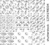 a set of abstract patterns.hand ... | Shutterstock .eps vector #1254198034