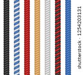 set of different colorful ropes ... | Shutterstock .eps vector #1254203131