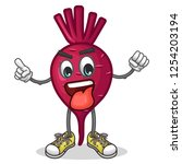 stock vector of cute red beet...   Shutterstock .eps vector #1254203194