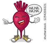 stock vector of cute red beet...   Shutterstock .eps vector #1254203221