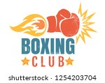 vector vintage logo for a... | Shutterstock .eps vector #1254203704
