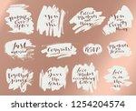 wedding invitation calligraphy. ... | Shutterstock .eps vector #1254204574