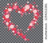 vector shape confetti splash....   Shutterstock .eps vector #1254212281