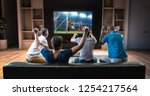 group of students are watching... | Shutterstock . vector #1254217564