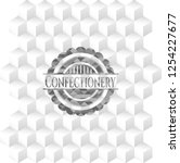 confectionery grey badge with... | Shutterstock .eps vector #1254227677