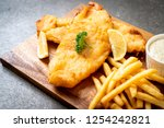 Fish and chips with french...