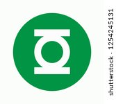 green lantern icon. super hero... | Shutterstock .eps vector #1254245131