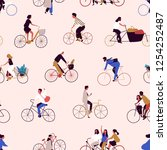 Seamless Pattern With People...