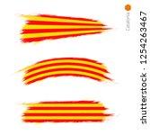 set of 3 grunge textured flag... | Shutterstock .eps vector #1254263467