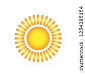 sun icon vector | Shutterstock .eps vector #1254285154