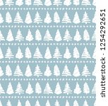 seamless holiday pattern ... | Shutterstock .eps vector #1254292651
