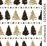seamless pattern  christmas... | Shutterstock .eps vector #1254292654