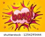 comic poster  speech bubbles... | Shutterstock .eps vector #1254295444