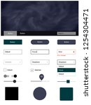 dark gray vector ui ux kit with ...